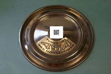 1970-1972 Air Cleaner Lid With Incorrect Decal, Used Fair